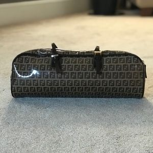 Fendi Horizontal Zucchino Brown Glazed Baguette